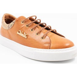 Leather sneaker with strass V20060